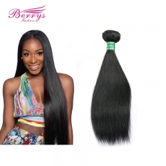 High Quality Brazilian Virgin Hair Straight 1pc Natural Color Soft Human Hair Extension