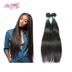 2pcs/lot Brazilian Straight Human Hair Extensions 100% Virgin Unprocessed Human Hair