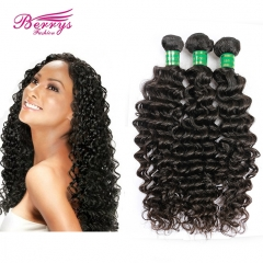 3 pcs Brazilian Deep Wave/Curly 3pcs/lot 100% Virgin Unprocessed Human Hair
