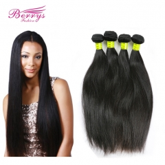 Berrys Fashion Hair Natural Color 4pcs/lot Malaysian Straight Hair Weave 100% Unprocessed Virgin Malaysian Hair Extension