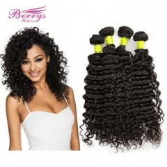 4 Bundle Deals Deep Wave Virgin Hair Unprocessed Virgin Hair Mix 10-28inch Natural Color