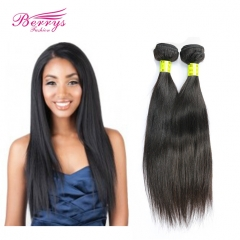 2pcs/lot Malaysian Straight Human Hair Extensions 100% Virgin Unprocessed Human Hair