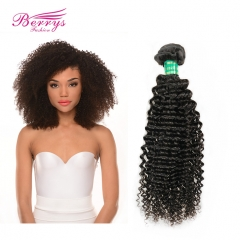 1pc Kinky Curly Unprocessed Virgin Brazilian Hair 10-28inch Natural Color Human Hair