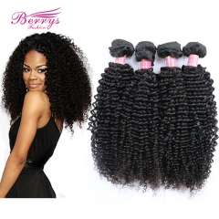 Peruvian Virgin Hair 4 Bundles Kinky Curly Hair Weave Unprocessed Curly Peruvian Hair Extensions