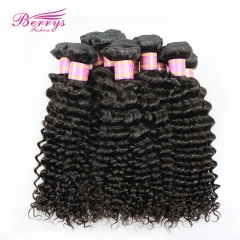 Factory Price Peruvian Deep Wave/Curly Virgin Human Hair 10pcs/lot,10-30inch Natural Color Unprocessed High Quality Hair Extension