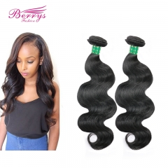 Berrys Fashion 100% Virgin Human Hair  2pcs/lot Brazilian Body Wave Virgin Human Hair Extension Unprocessed Natural Great Hair