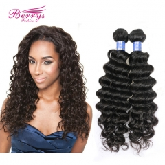 2 Bundles Indian Deep Curly/Wave Virgin Hair 100% Unprocessed Human Hair Extension