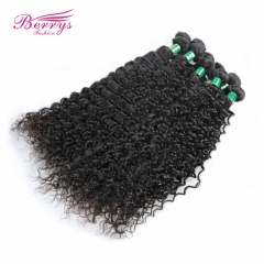 Factory Price Brazilian Deep Wave/Curly Virgin Human Hair 10pcs/lot  10-30inch Natural Color Unprocessed High Quality Hair Extension