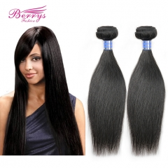 2pcs/lot Indian Straight Human Hair Extensions Virgin Unprocessed Human Hair