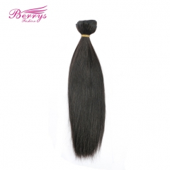 7A Grade 1pc Brazilian Straight 100% Human Hair Berrys Fashion Remy Hair