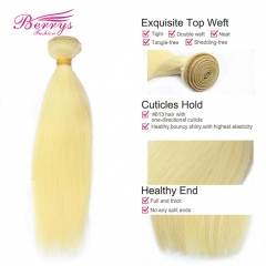 Straight Blonde Virgin Hair 1 pcs  #613 Soft Shiny Smooth Beautiful Queen Human Hair