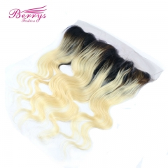 13*4 1b 613 frontal 100% Virgin hair 1b roots/613 # body wave with bleached knots can be Dyed and Bleached