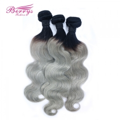 "1B/Grey Hair BODY WAVE Brazilian body Wave Virgin hair 12""-24"" Berrys FASHION Hair Products Brazilian"