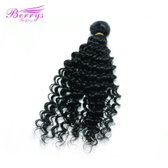 Berrys Fashion 1 pcs Deep Wave/ Curly Beautiful Queen Hair Good Quality Remy Hair Extension