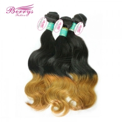 New Hair Brazilian Body Wave Ombre Hair Two Tone 1b &27 Hair 100% Virgin Human Hair