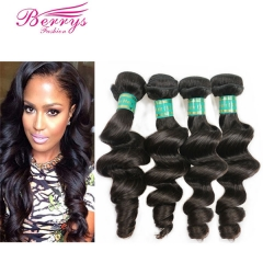 Berrys Fashion Hair 4 Bundle Deals Loose Wave Virgin Hair Unprocessed Virgin Brazilian Hair