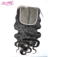[Berrys Fashion] New Arrival Lace closure 6* 6 Brazilian Body Wave 100% Human hair 10-20 Natural Hairline