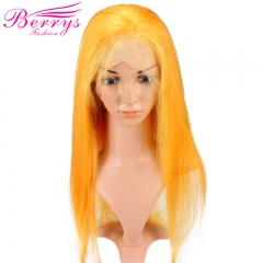Berrys Fashion New Arrival Customized Pretty Fashion Yellow Full Lace Wig Dyed from 613 Full Lace Wig High Quality Hair for New Year Makeup