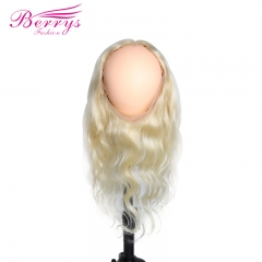 New Arrival Berrys Fashion Hair Body Wave Blonde 613 360 (22*4)Frontal with Transparent Lace and Natural Hair Line