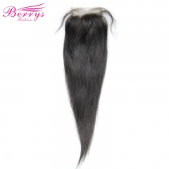 [Berrys Fashion] Lace Closure Straight Bleached Knots 4*6 Lace Unprocessed Virgin Human Hair Free Part Brazilian Body Closure