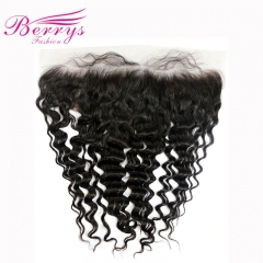 Transparent Lace Frontal 13*4 Peruvian 100% Virgin Hair Deep Wave Top Lace Frontal Berrys Fashion Hair