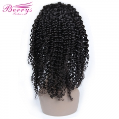 Berrys Fashion Hair 100% Virgin Human Hair Kinky Curly Full Lace Wig 130% Density with Bleached Knots