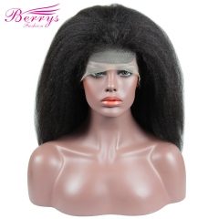 Berrys Fashion Hair 100% Virgin Human Hair Kinky Straight Full Lace Wig 130% Density with Bleached Knots
