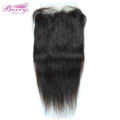 [Berrys Fashion] Straight Free Part 7x7 Lace closure  Brazilian  100% Human hair 10-22 inches Natural Hairline bleached knots
