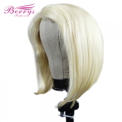 Berrys Fashion Short Bob Lace Front Wig Brazilian Blonde 13x4  Lace Frontal Wigs With Baby Hair For Black Women Berrys Fashion