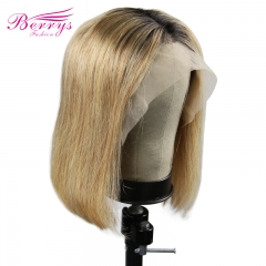 Bob Wig  For 1b/#27 Short Lace Human Hair Wigs For Women Brazilian Straight Remy Human Hair No Smell Lace Front Human Hair Wig